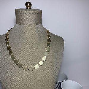 LOFT Gold Scalloped Pave Necklace